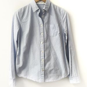 Tops - 100% cotton striped blue and white button down M